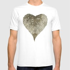 heart nature Mens Fitted Tee MEDIUM White
