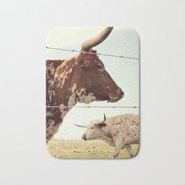 Texas Longhorn Cattle Bath Mat
