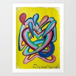 Formas en el espacio 4 Art Print