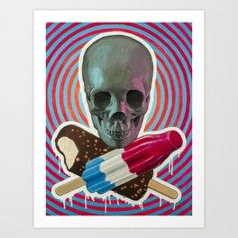 Skull x Pops Art Print