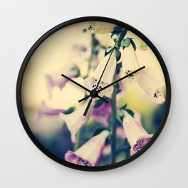 bell flowers Wall Clock