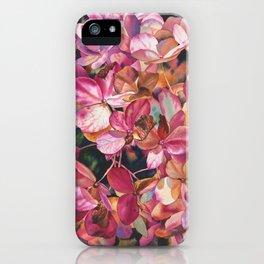 Bright hydrangea iPhone Case