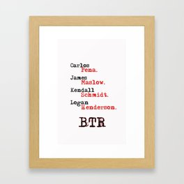 btr 1 Framed Art Print
