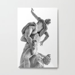 The robbery of the Sabineers of Giambologna Metal Print
