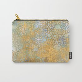 gold arabesque vintage geometric pattern Carry-All Pouch