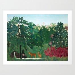 Henri Rousseau, The Waterfall - Tropical Art Art Print