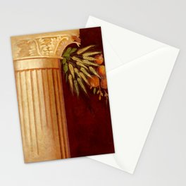 Roman column fresco with wheat and fruit Stationery Cards