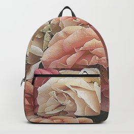 Great Garden Roses,peach Backpack