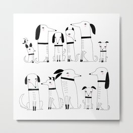 ELEVEN DOGS ONE BIRD Metal Print