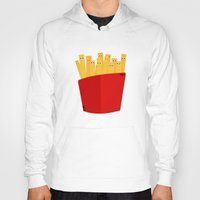 fries Hoodies featuring FRENCH FRIES by cfortyone
