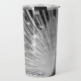 Peacock in White Travel Mug
