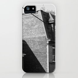 Ghost of Mexico Street - B/W iPhone Case