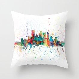 Pittsburgh Pennsylvania Skyline Throw Pillow