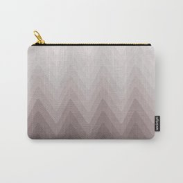 Zigzag.White, beige, gray, brown Ombre. Carry-All Pouch