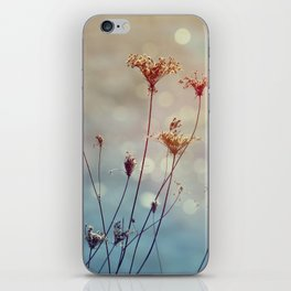 Soft Queen Anne's Lace and Bokeh iPhone Skin