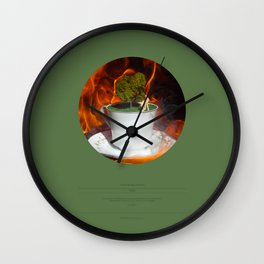 The Garden (This Burning World 3) Wall Clock