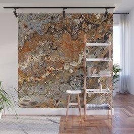 Earth Tones Lava Flow Wall Mural