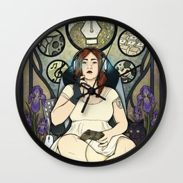 Gamer girl Wall Clock