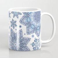 snowflake Mugs featuring Snowflake by Awispa