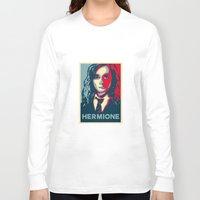 hermione Long Sleeve T-shirts featuring Hermione by husavendaczek