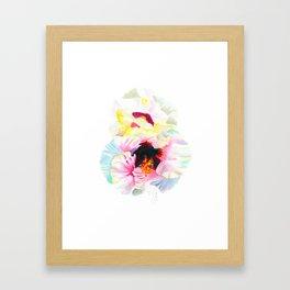 Aloalo / White Hibiscus Framed Art Print