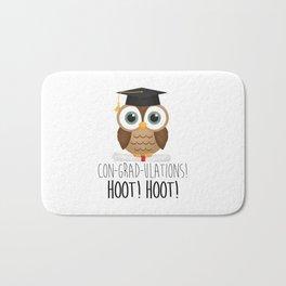 Con-grad-ulations! Hoot! Hoot! Bath Mat