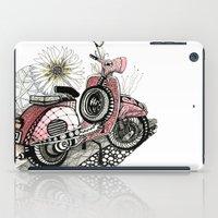 vespa iPad Cases featuring Vespa by Mariqui Romero