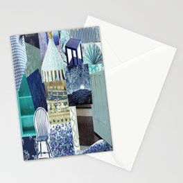 Collage - Feeling Blue Stationery Cards