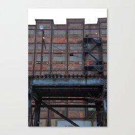 Steel Yard Train Track Bridge Canvas Print