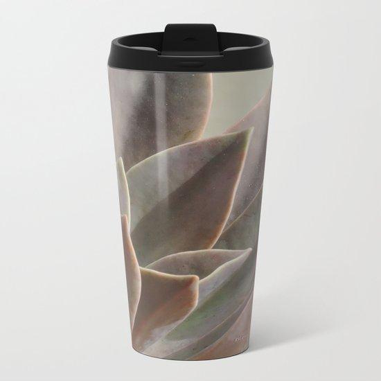TEXTURES: Succulent Looks East Metal Travel Mug