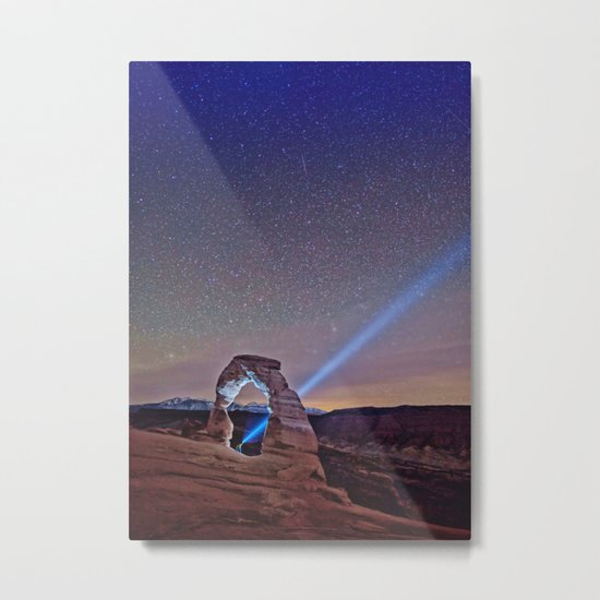Starry Night Pointer Metal Print