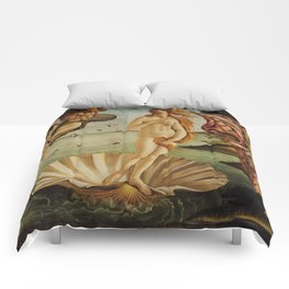 The Birth of Venus by Sandro Botticelli Comforters
