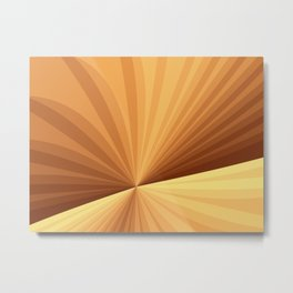 Graphic Design With Stripes Metal Print
