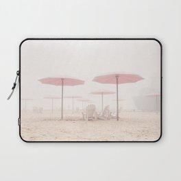 Foggy Beach Laptop Sleeve