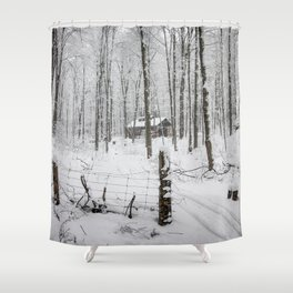 Shack in the Snow Shower Curtain