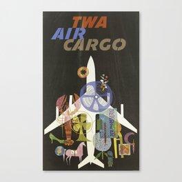 TWA AIR CARGO VINTAGE POSTER Canvas Print