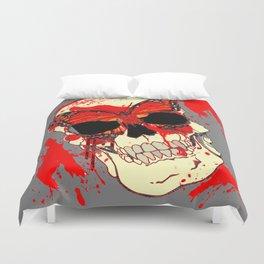 HALLOWEEN BLOODY SKULL & BUTTERFLY ART Duvet Cover