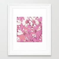 daisy Framed Art Prints featuring Daisy  by Saundra Myles