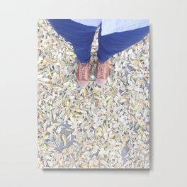 Feet in the fall Metal Print