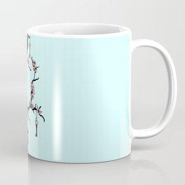 Ravens on cherry tree Coffee Mug