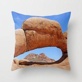 Rock Arch near Spitzkoppe, Namibia Throw Pillow