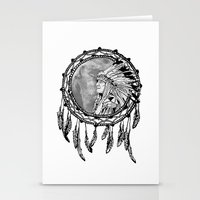 dream catcher Stationery Cards featuring Dream Catcher by Astrablink7