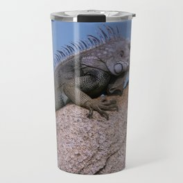 Iguana from Aruba Travel Mug