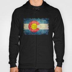 Colorado flag in Retro Grunge Hoody
