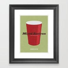 Mixed Reviews - Americna Pie Framed Art Print