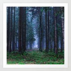 Green Magic Forest Art Print