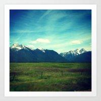 MT Mountains Art Print