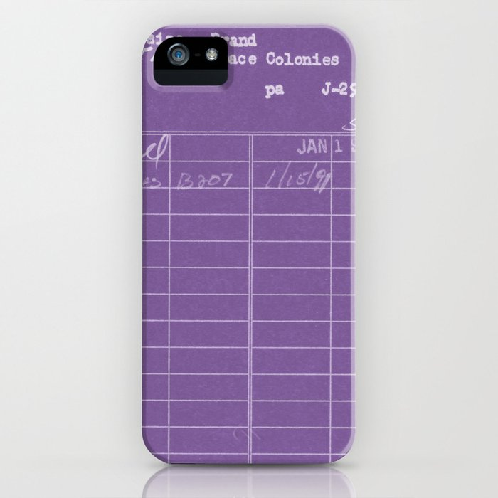 Library Card 797 Negative Purple iPhone Case