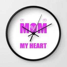Tennis Moms Full Heart Mothers Day T-Shirt Wall Clock
