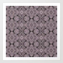 Wool Lace Bohemian Pattern Fiber Texture Taupe Mauve Art Print